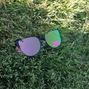 Betsey Johnson Mirrored Sunglasses Tortoise Frames
